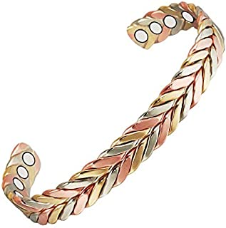 Wollet Jewelry, braccialetto magnetico per combattere l'artrite per uomo e donna; di rame africano, 16,5 cm, intrecc...