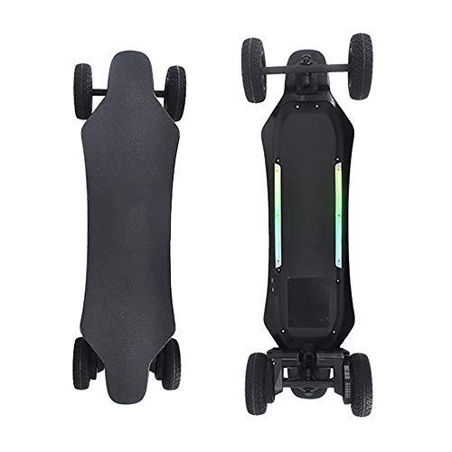 WOTR Elektro-Skateboard, Elektronischer Longboard All-Terrain SUV Fernbedienung Off-Road Skateboard, High-Speed 25 Stundenmeilen, Dual-1000W Motors, 6-Zoll-Off-Road-Reifen