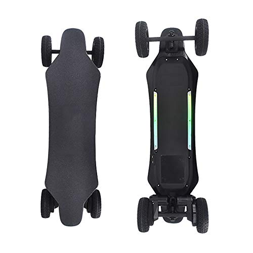 WOTR Elektro-Skateboard, Elektronischer Longboard All-Terrain SUV Fernbedienung Off-Road Skateboard, High-Speed ​​25 Stundenmeilen, Dual-1000W Motors, 6-Zoll-Off-Road-Reifen