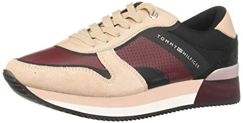 Tommy Hilfiger ACTIVE CITY SNEAKER Zapatillas de tenis para Mujer, color rosa, 23.5