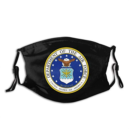 Us Air Force Veteran with USAF Seal Dust Mask Mens Woman Mask with Filter Chip Black