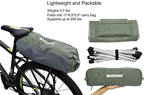 MARCHWAY Lightweight Folding High Back Camping Chair with Headrest, Portable Compact for Outdoor Camp, Travel, Picnic, Festival, Hiking, Backpacking (Light Green)