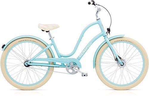 ELECTRA Damen Fahrrad Townie Balloon 7i EQ Stadtrad, Sky Blau, 7 Gang, 26