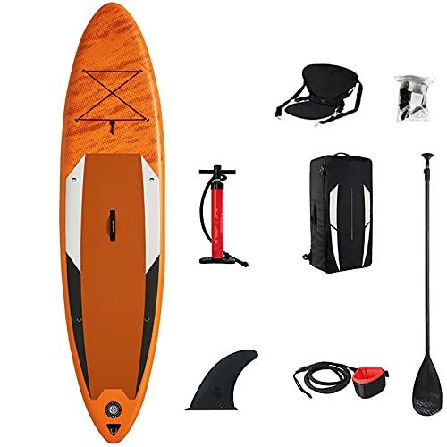 BMDHA Tabla Sup Hinchable,Tabla De Surf Inflable 330 × 81 × 15 Cm con Asiento,Tabla De Stand Up Paddling Estable Y Seguro PortáTil Tabla Paddle Surf Hinchable