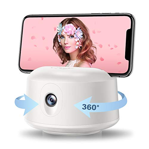 Smart Tracking Holder【NO APP Required】, Foxnovo 360° Smart Shooting Gimbal Robot Cameraman Face Tracking Smart Selfie Stick for Vlogging/Live Streaming, Compatible with All APPS/Phone/iPad/Tripod