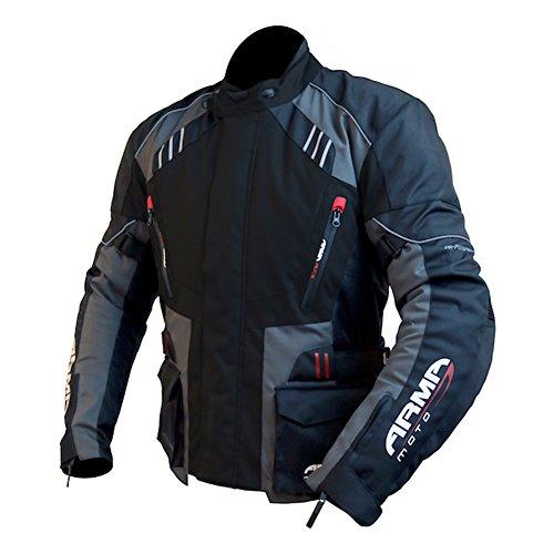 ARMR Moto Kiso 2 Motorcycle Jacket 10XL Black/Gunmetal