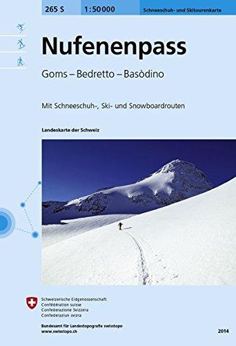 265S Nufenenpass Schneeschuh- und Skitourenkarte: Goms - Bedretto - Basòdino (Skitourenkarten 1:50 000)