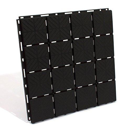gehwegplatten platten 1,5 qm kunststoff bodenplatten terassenplatten beetplatten schwarze trittfläche