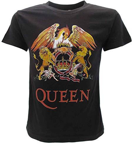 T-Shirt Originale Queen Bambino Bimbo Ufficiale Maglia Maglietta Gruppo Freddie Mercury Film (9-11 Anni)