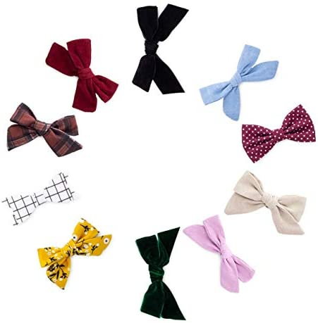 Parker Baby Girl Bows Clips Assorted 10 Pack of Hair Accessories for Girls The Anne Set product image