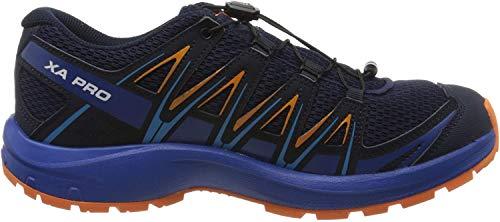 Salomon Kinder Sportschuhe, XA PRO 3D J, Farbe: blau/orange (Medieval Blue/Mazarine Blue Wil/Tangelo), Größe: EU 36