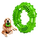 Feeko Dog Toys for Aggressive Chewers Large Breed, Non-Toxic Natural Rubber Long Lasting Indestructible Dog Toys, Durable Puppy Chew Toy for Medium Large Dogs - Fun to Chew, Chase and Fetch (Green)