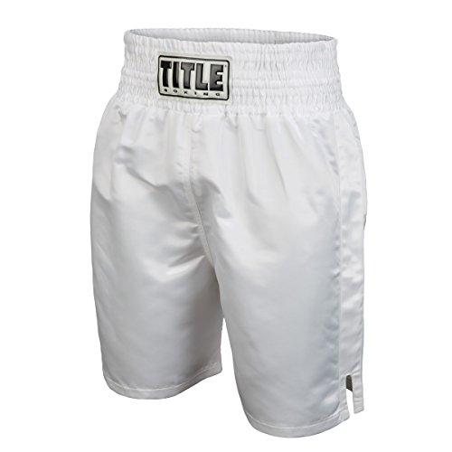 Title Edge Boxing Trunks, White, XX-Large