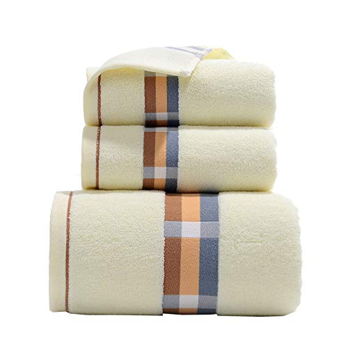 LANJ Cotton Towel Set Toallas Baño Toalla Suave Cómoda