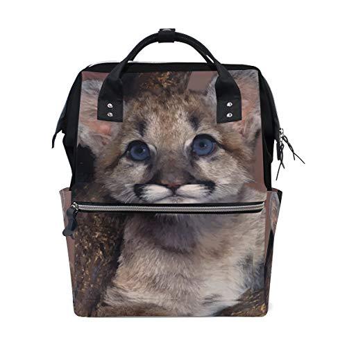 LINDATOP Cougar Cub impresión pañal mochila viaje momia bolsas de pañales de gran capacidad y multifunción, elegante y duradera bolsa de enfermería