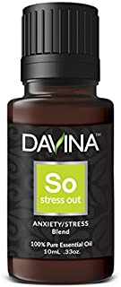 Stress OUT Peace & Calming Anxiety Essential Oil Blend 10ml Therapeutic Grade by Davina