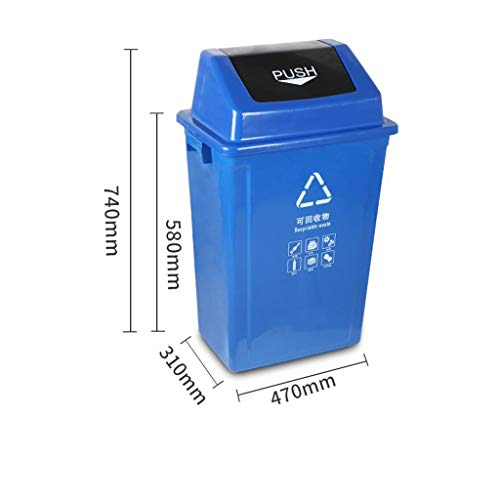 Check Out This LXF Outdoor Waste Bins Trash can, Shuffle Cover, Trash can, Sanitation Plastic Bucket...