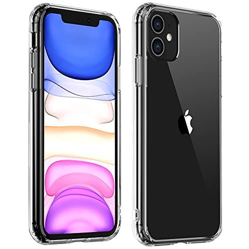 """YIWEVEN Cover per iPhone 11 Clear - [Anti-Graffio, Non ingiallente] Custodia iPhone 11, Soft TPU Bumper, Resistente Anti-Bolla Case di Copertura Rigida per iPhone 11 6.1"""" – Trasparente"""