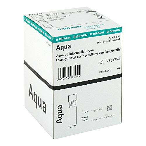 Aqua Ad Injectabilia Miniplasco Connect Inj.-Lsg., 20X20 ml