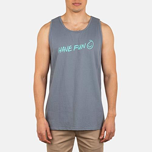Hurley M Have Fun Tank Camiseta De Tirantes, Hombre, Camelia, M