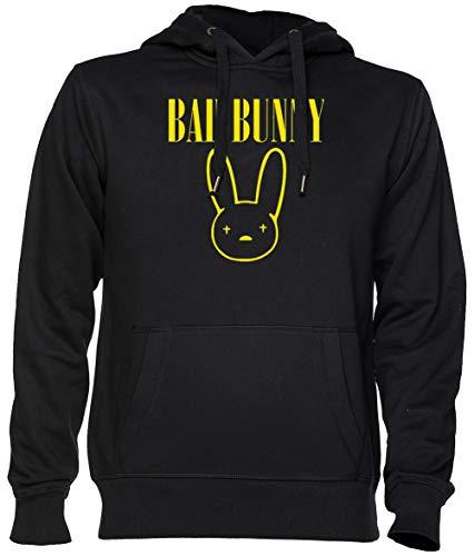 Bad Bunny Negro Jersey Sudadera con Capucha Unisexo Hombre Mujer Tamaño XXL Black Unisex Hoodie Size XXL