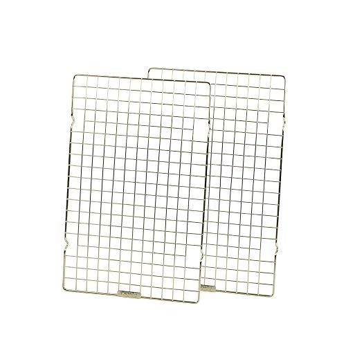 Baking Rack Commercial Grade cooling racks for baking Thick-Wire wire rack bakin 10'×16'Golden-Set of 2ges Nontoxic for Roastinges baking rack for oven Safe wire coolings rack Roasting Drying