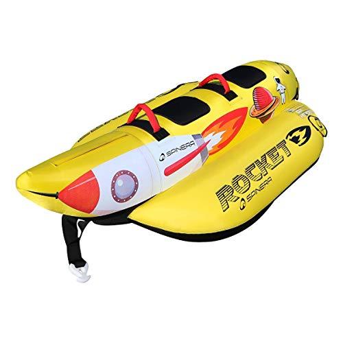 SPINERA Rocket 2 - aufblasbare Banane, Tube, Wasserring, Wasserreifen, Towable für 2 Personen