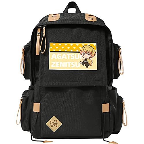 Cos Prop School bag anime cartoon estudiante mochila hombres y mujeres bolsa de computadora para Demon Slayer, anime bolsa para Kamado Tanjirou Kamado Nezuko Tomioka Giyuu