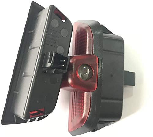 HUAYIN 2 unidades de iluminación para puerta de coche con proyección de logotipo (para 4W204-AMG)