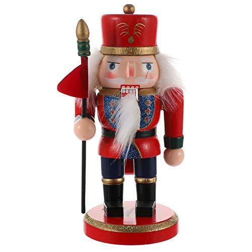 VORCOOL Weihnachten Nussknacker Set Holz Nussknacker König Soldat Figur Statue Statue Skulptur Nussknacker Puppen Tisch Herzstück für Weihnachtsferien Dekorationen 15Cm