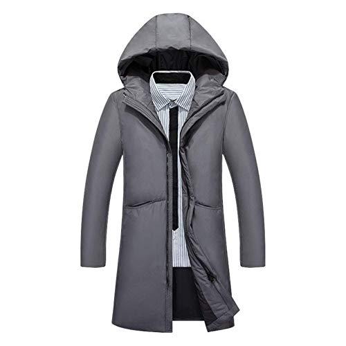 Ligera chaqueta con capucha   Chaqueta al aire libre caliente   Capa Caliente   Fácil de compresión   ligera y suave   ligeros   impermeable   transpirable   duradero y resistente, gris, XL DOISLL