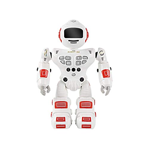 Bascar Mando a distancia robot juguete control gestico robot RC para niños programable robótica recargable robótica canta bailar niño niña niños (rojo)