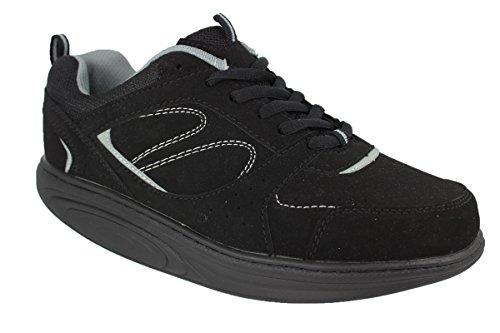 buyAzzo Damen Gesundheitsschuhe Komfort Sneaker Fitness Sportschuhe Wellness Schuhe Beruf Gastro Freizeit BA0088D (39)