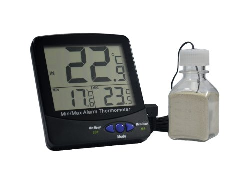 1223M50EA Thermco ACCI0301BLS Accu-Safe Enclosed Chamber Blue Spirit Filled Thermometer 18/° to 50/°C Range 0.5/°C Division 135mm Height Thermco Products Inc Incubator