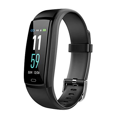 Preisvergleich Produktbild AUNLPB Fitness Tracker Activity Watch und Heart Rate Monitor,  wasserdichtes Touch Screen Smart Armband für Frauen,  Männer,  Kinder mit Sleep Monitor,  Pedometer Step Calorie Counter, Black