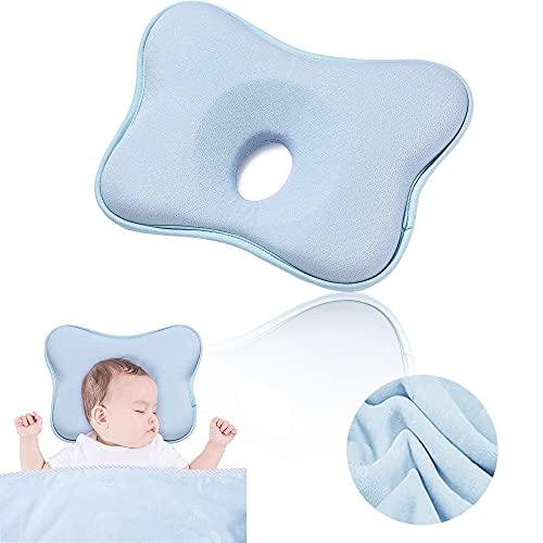 Almohada de cabeza plana para bebé, almohada de bebé para moldear la cabeza, almohada para bebé, almohada de espuma con memoria, almohada de bebé de cabeza plana.