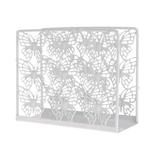 Fafalloagrron Dispensador de servilletas de metal con dispensador de pañuelos de papel para decoración de mesa de fiesta para el hogar (D)