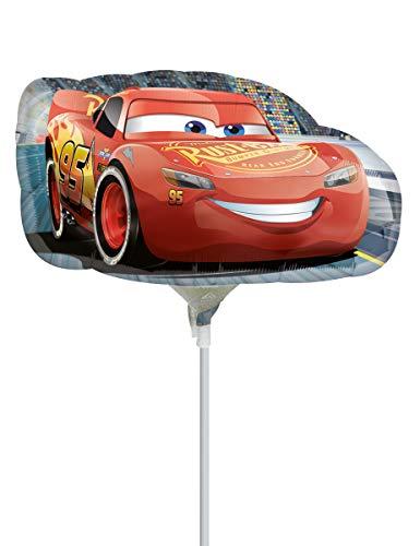 Anagram- Pallone Foil Minishape Cars Saetta McQueen-Si GONFIA AD Aria, Multicolore, 7A3537302