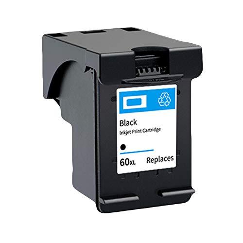 SXCD Cartucho de tinta 60XL para impresora HP, compatible con HP Deskjet F4280 2410 C4780 4480 D5560 D5563 D5568 F2400 D1668 D2530 F4240 F4583 negro 1