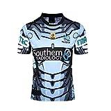 DDsports Cronulla-Sutherland Sharks, Maillot De Rugby, 2016, Nouveau Tissu Brodé, Swag Sportswear (Bleu, 2XL)
