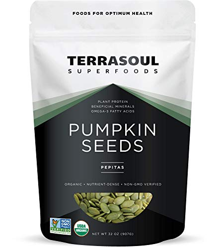 Terrasoul Superfoods Organic Pumpkin Seeds, 2 Lbs - Premium Quality | Fresh | Raw | Unsalted