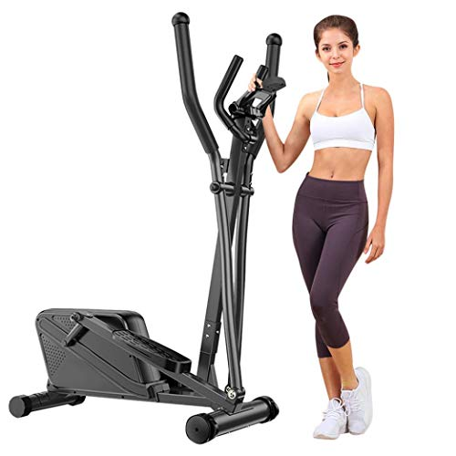 Adpan Magnetic Elliptical Machine, Quiet & Smooth, Elliptical Cross Trainer Machine with 10 Levels Resistance and 35lb Flywheel, Best Exercise Machine Trainer for Home Gym Office Workout