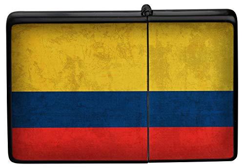 Feuerzeug Benzinfeuerzeug Sturmfeuerzeug Metallfeuerzeug in Farbe Schwarz Feuerzeug Schwarze Kolumbien Flagge
