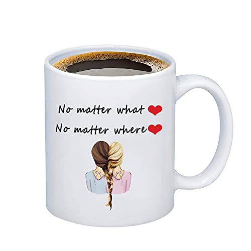 WUSUANED No Matter What Where Best Friend Coffee Mug Long Distance Friendship Gift For Sister Best Friends