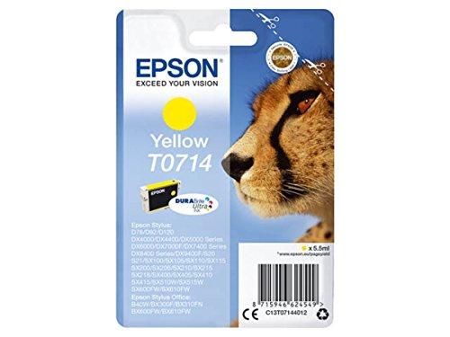 Epson original - Epson Stylus DX 8450 (T0714 / C13T07144012) - Tintenpatrone gelb - 415 Seiten - 5,5ml