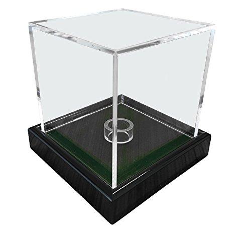 LL-Golf Universal Acryl Vitrine 10x10x10cm / Showcase/Display case/Schaukasten mit grünen Samt z.B. für Tennisball, Baseball, Golfball, Figuren, Modelle, Uhren