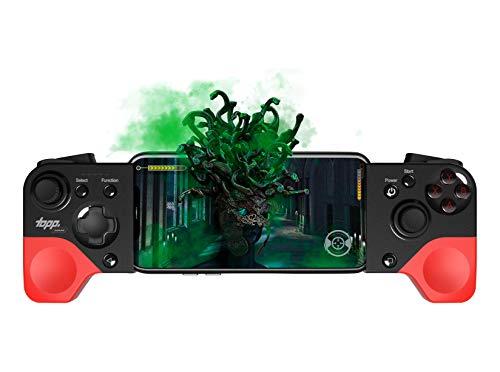 topp Gaming Smartphone Controller 'Medusa' mit bis zu 8 h Laufzeit & individuell Einstellbarer Tastenbelegung - iOS, Android, Windows Support - Rot/Schwarz