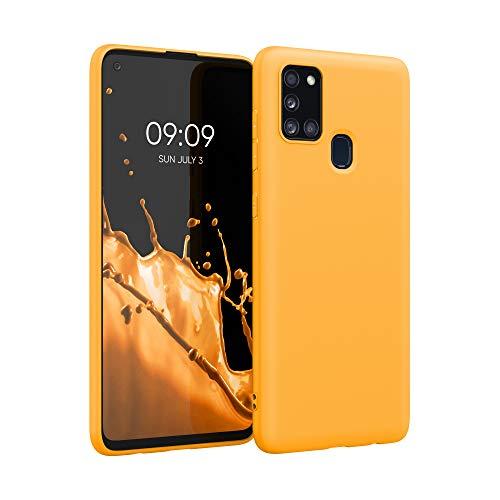 kwmobile Cover Compatibile con Samsung Galaxy A21s - Cover Custodia in Silicone TPU - Backcover Protezione Posteriore- Giallo Zafferano