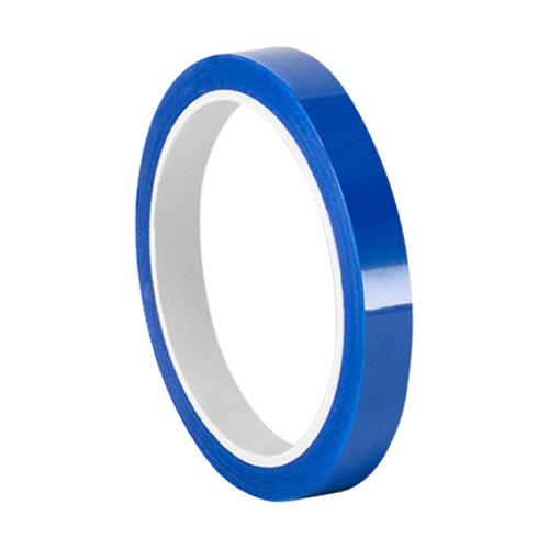 Tapecase 3/8–10–8901–Nastro adesivo blu in poliestere/silicone convertito da 3m 8901, 400°F, lunghezza 25,4cm, larghezza 1cm