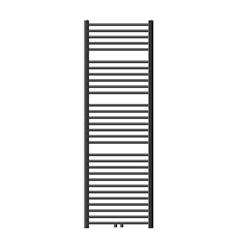 ECD Germany Radiador Toallero de Baño - 600 x 1800 mm - Antracita - Plano - con Conexión Central - Calefactor Mural Tipo Escalera - Secador Calentador de Toallas - Calefacción de Aseo - No Eléctrico
